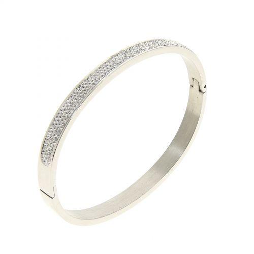 Bracelet acier inoxydable Strass zirconium LINSEY, premium