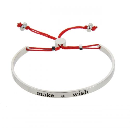 "Bracelet ""make a wish"" en acier inoxydable Livia, premium"