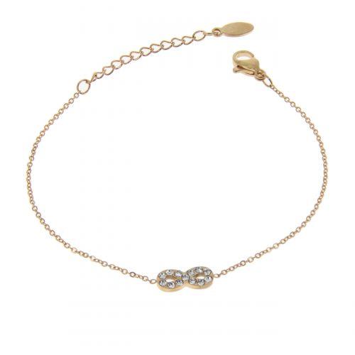 Infinity woman stainless steel bracelet, SAVERIA