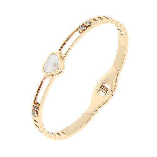 Bracelet acier inoxydable, premium coeur