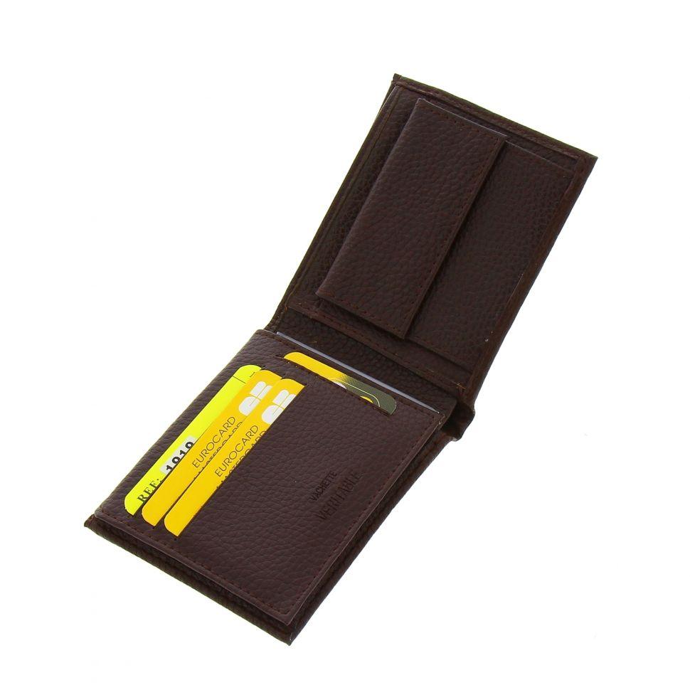 Portefeuille en Cuir Véritable pour homme, compacte 12x9x2,50 cm, GEFFREY