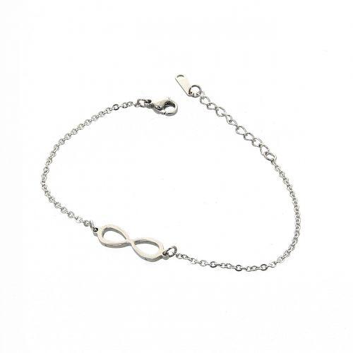 Bracelet infini en acier inoxydable Noélie