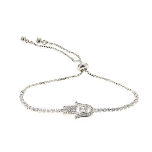 Bracelet Fatima's hand rhinestone adjustable