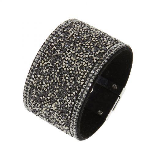 Bracelet manchette à Strass cristal Naemi