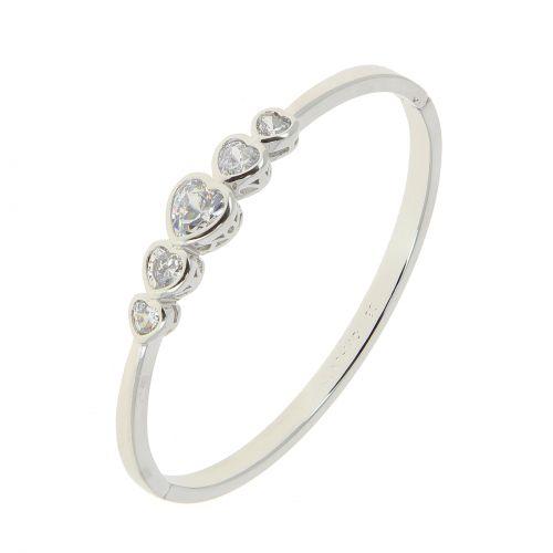 Bracelet acier inoxydable Coeur à cristel de zirconium ADDYSON