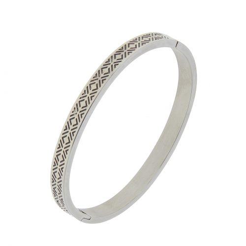 Bracelet acier inoxydable de zirconium ANANAS