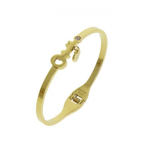 Bracelet acier clé et amour KINALY