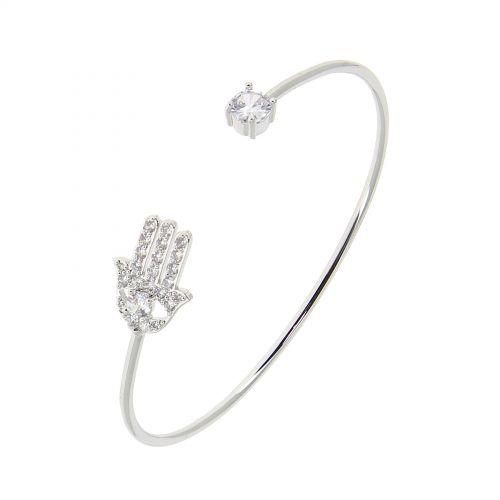 Bracelet femme, Main de fatima Cubic Zirconium MEDINA