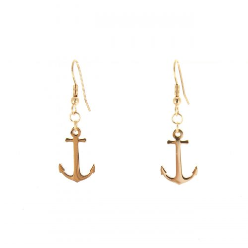 Anchor stainless steel earrings, NEVA