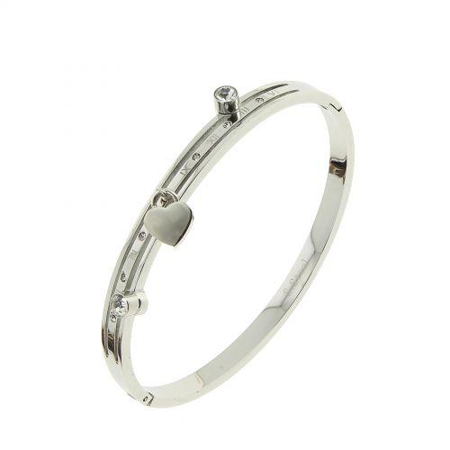 Bracelet acier inoxydable Cadenas, cristal de Zirconium ELARA