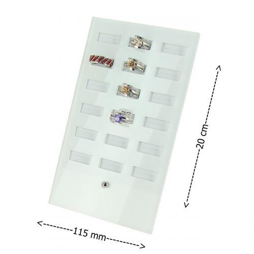 Cadre, présentoir, rangement à bagues acrylique OHYNA