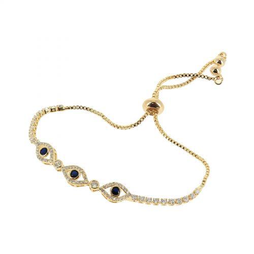 Bracelet à strass adjustable oeil à strass KATELINA