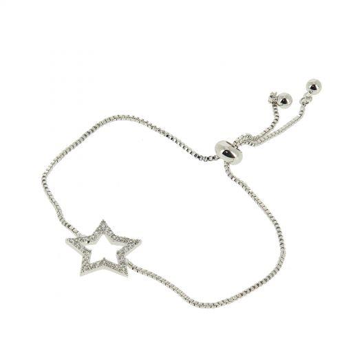 Bracelet rhinestone adjustable star KALYCIE