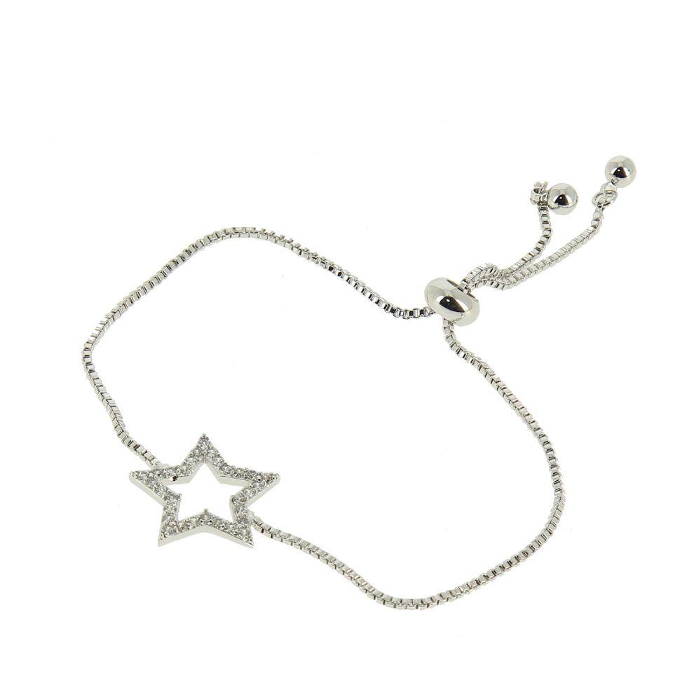 Bracelet à strass adjustable étoile KALYCIE