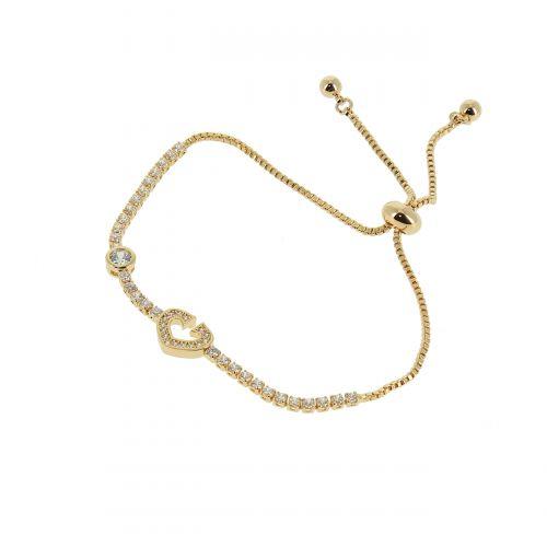 Bracelet à strass adjustable coeur LIANNA