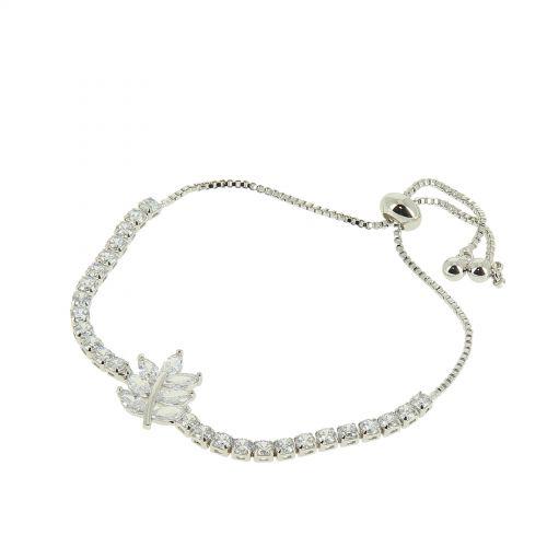 Bracelet rhinestone adjustable heart ANKI