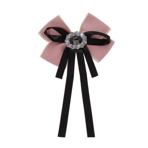 Strass Kristall Dangle Hochzeit Fliege Frauen Band Pre Tied Krawatte Brosche Pin Clip TALY