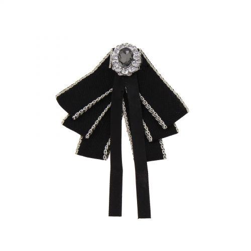 Strass Kristall Dangle Hochzeit Fliege Frauen Band Pre Tied Krawatte Brosche Pin Clip, ULIANA