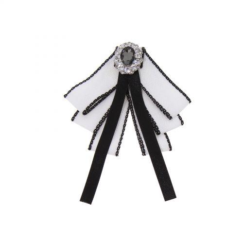 Rhinestone Crystal Dangle Wedding Party Bow Tie Ribbon Pre Tied, ULIANA