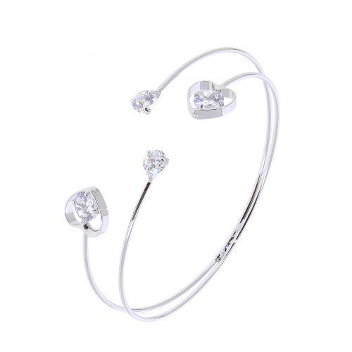 Bracelet femme Coeur, Cristal de Zirconium ZOYA