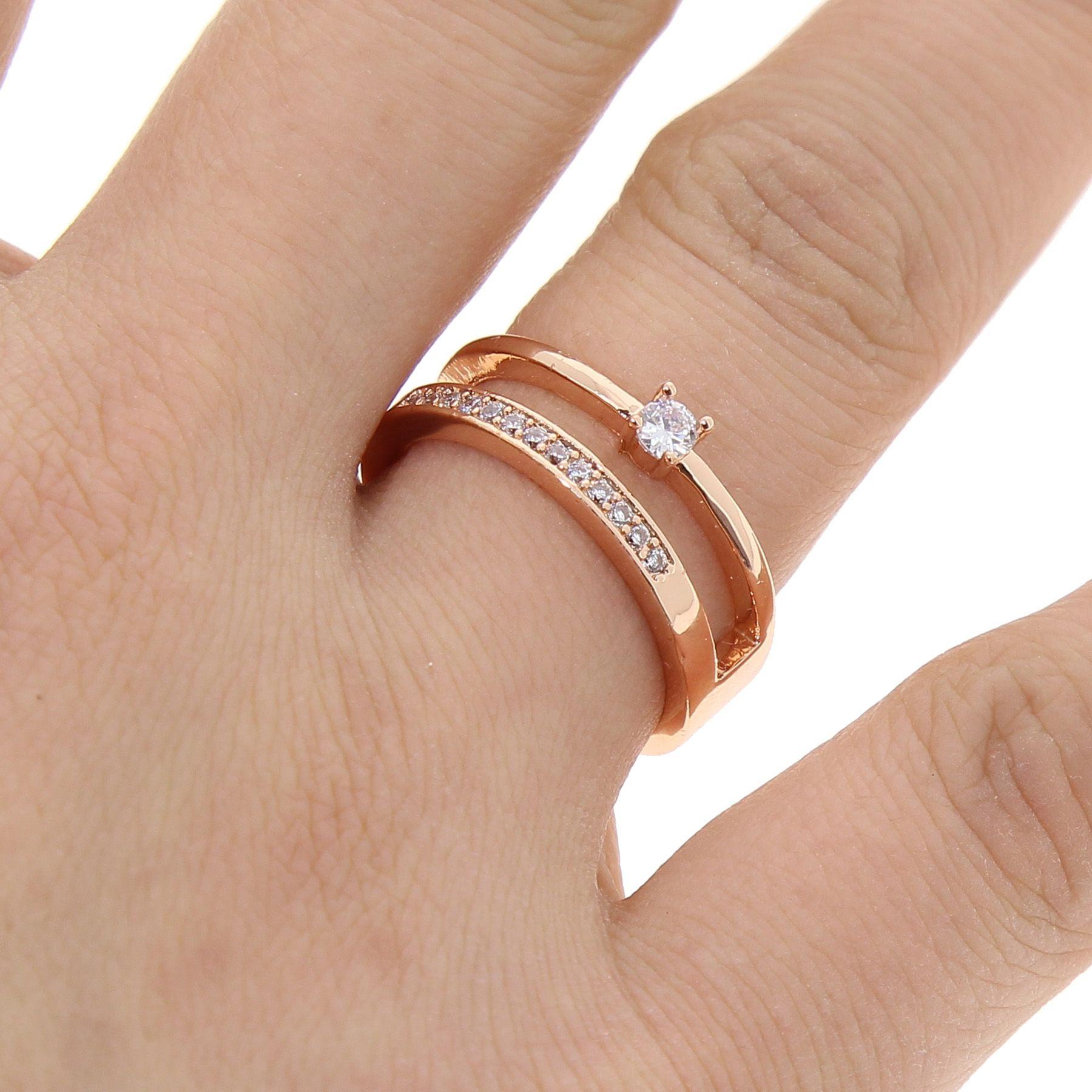 a1f978667b16 Anillo de cobre dorado d oro para mujer
