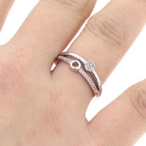 zirconium rhinestone Copper ring golden with gold, SARIA