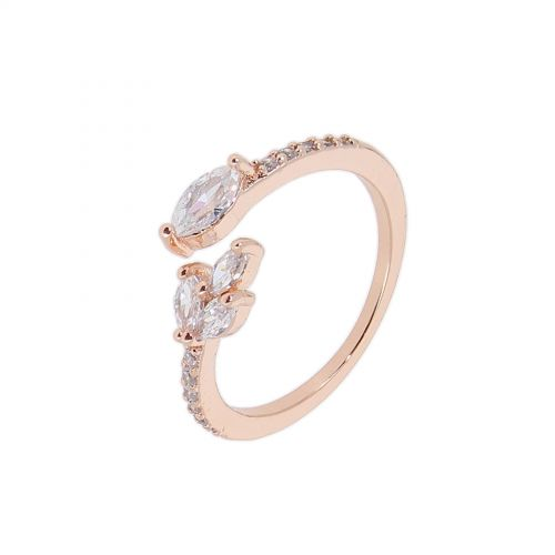 zirconium crystal copper woman ring, LUMI