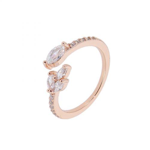 8499 rhodium rhinestones ring - color Golden