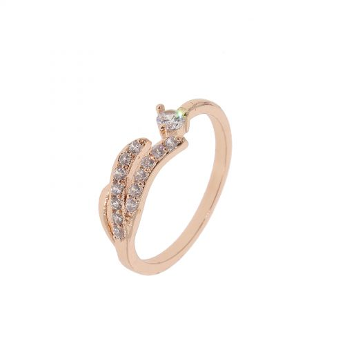 Wing zirconium crystal copper woman ring, KAYLINE