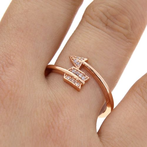 Arow zirconium crystal copper woman ring, LYLIA