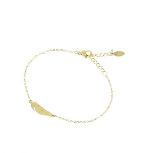 Woman Feather stainless steel bracelet, MARGO