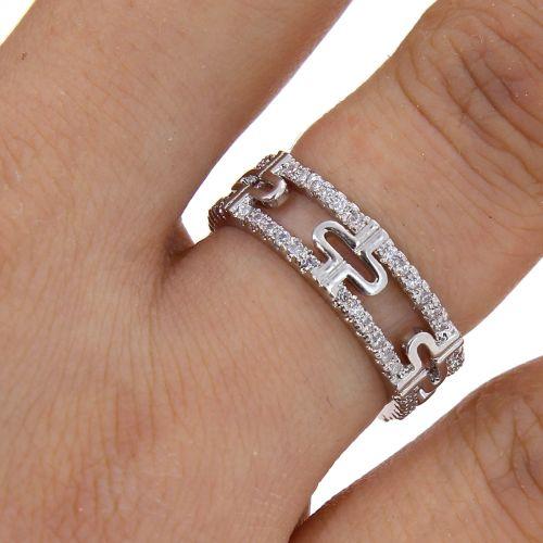 Anello de rame cristallo di zirconio d'Oro con l'Oro, ELARA