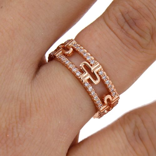 zirconium crystal copper woman ring, ELARA