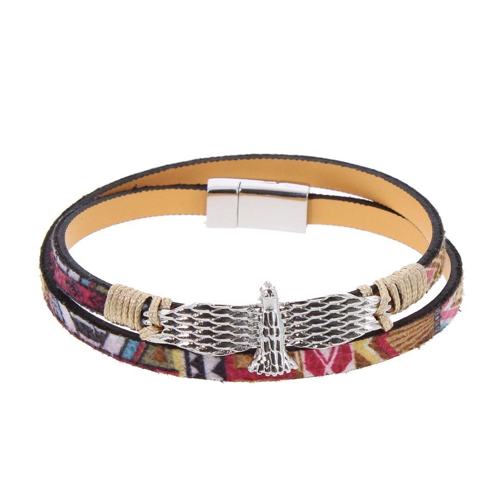 Bracelet à Aigle similicuir, EFFY