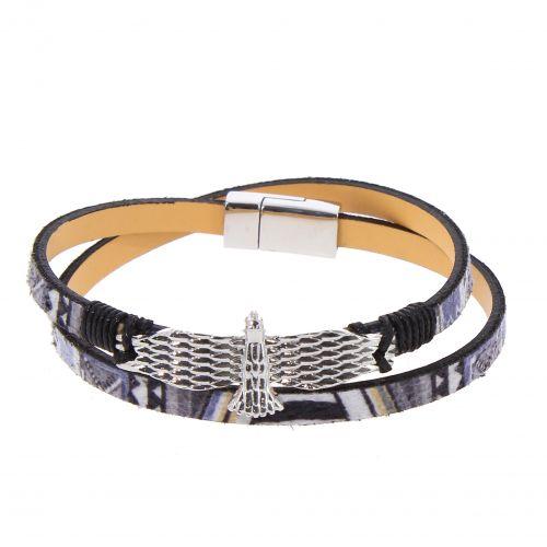 Bracelet femme à enrouler similicuir ethnique, Aigle, EFFY