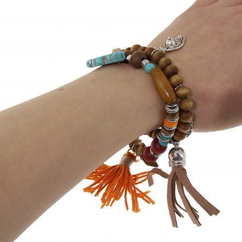 Bracelet extensible ethnique