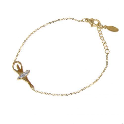 Bracelet danseuse en acier inoxydable Soléa