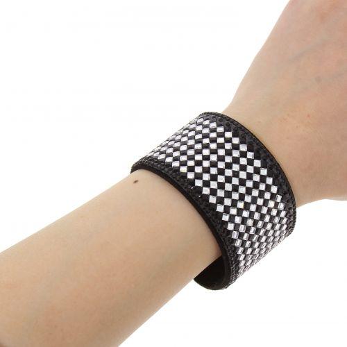 Bracelet rhinestone cuff CELIA