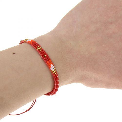 Bracelet à strass adjustable Halim