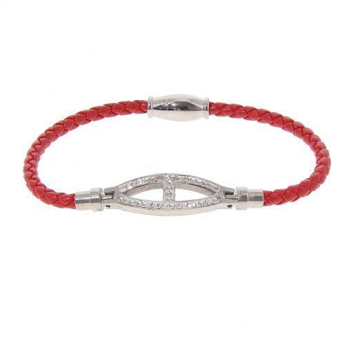 Bracelet en acier inoxydable à strass SIENNA