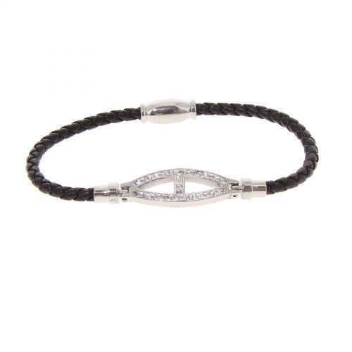 Rhinestone Stainless steel bracelet, CAITLIN