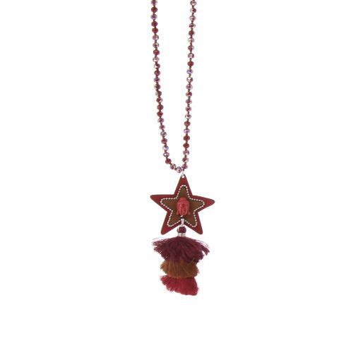 Bohemian Perlen Langen Damen-Halskette mit Quaste und STERN, LIVIA