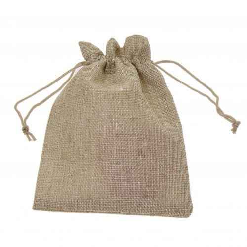 100 x Pacchi da imballaggio regali di tessuto d'argento 145/200
