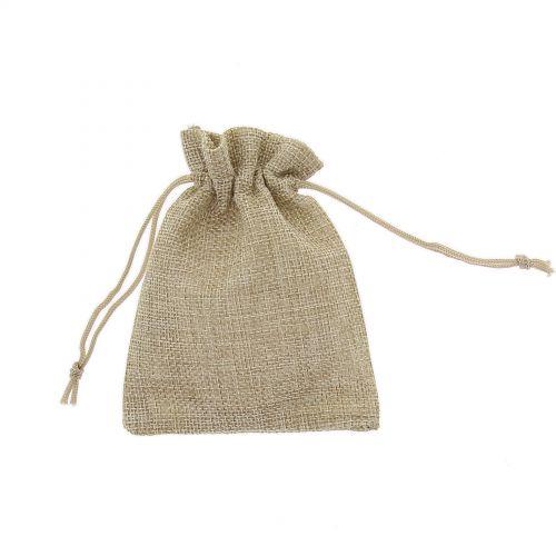 50 x Sachets d'emballage cadeaux tissus chanvre 100/120