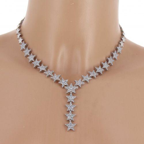 Parrure Collier et Boucles d'oreilles femme Cristal de Zirconium Swarovski doré à l'OR, AOIFE