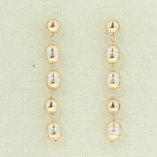 Boucles d'oreilles longues pendantes à perles BEGGA