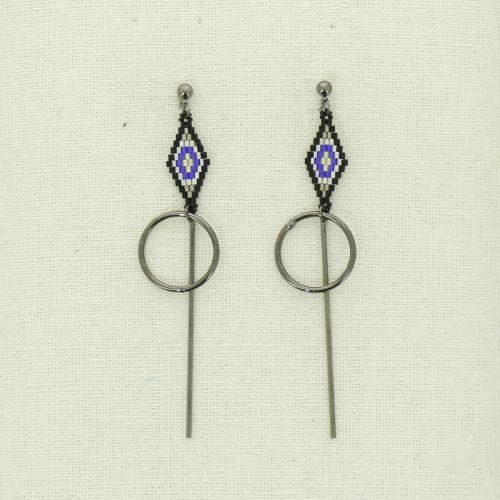 Boucles d'oreilles pendantes à perles ELIZABETH