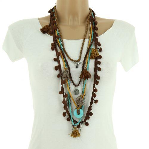 Bohemian Perlen Langen Damen-Halskette, HEYLIE