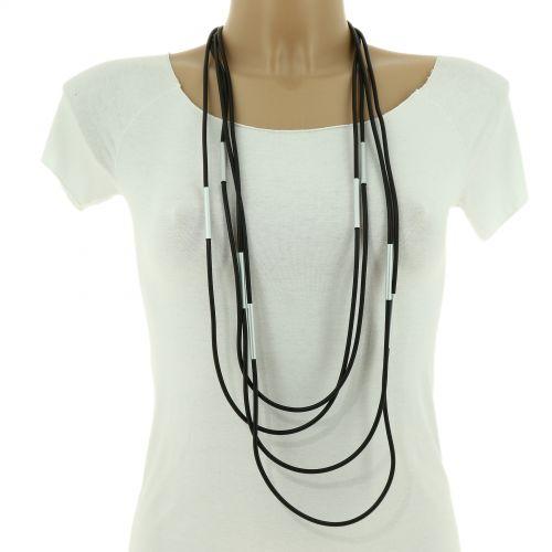 Gummi Lange Damen-Halskette, CACILIA