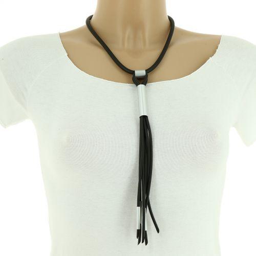 Collar 80 cm largo de cuero con colgante XL LINA